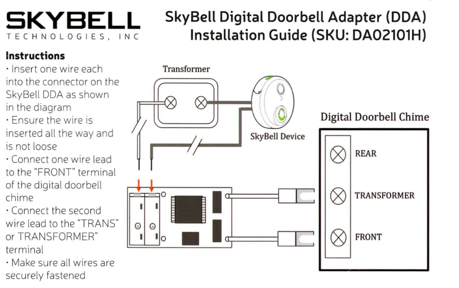 Doorbell Wiring Instructions Great Installation Of Diagram Byron Do I Need A Digital Adapter How Install It Skybell Rh Skybelltechnologies Zendesk Com Nest
