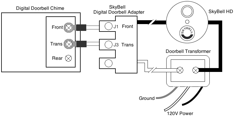 Digital_Doorbell_Adapter_Diagram do i need a digital doorbell adapter? how do i install it Doorbell Wiring-Diagram Two Chimes at mifinder.co